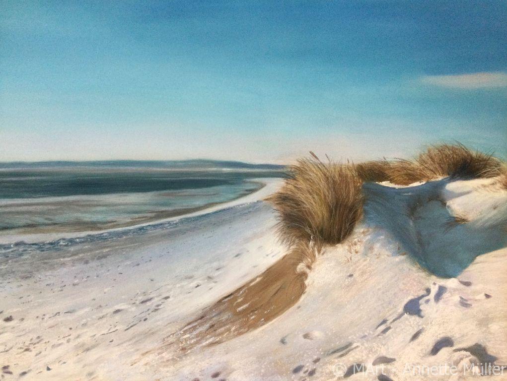 Pastellbild Winterstrand auf Sylt